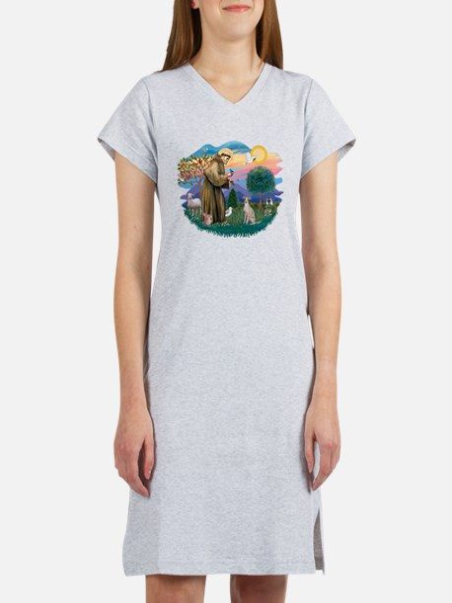 St.Francis #2/ Ital Grey (f) Women's Nightshirt