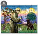 St Francis Chocolate Lab Puzzle