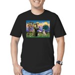 St Francis/Yellow Lab Men's Fitted T-Shirt (dark)