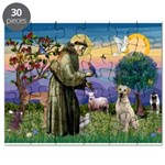 St Francis/Yellow Lab Puzzle