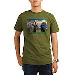 Saint Francis' Newfie Organic Men's T-Shirt (dark)