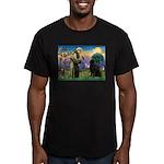 Saint Francis' Newfie Men's Fitted T-Shirt (dark)