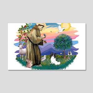 St. Francis #2 / Papillon 22x14 Wall Peel