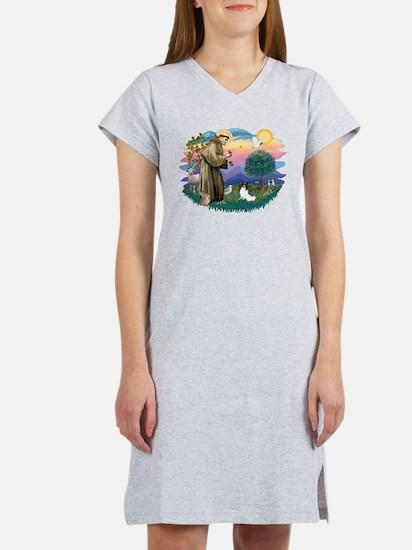 St. Francis #2 / Papillon Women's Nightshirt