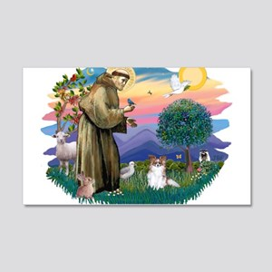 St.Francis #2 / Papillon (sw 22x14 Wall Peel