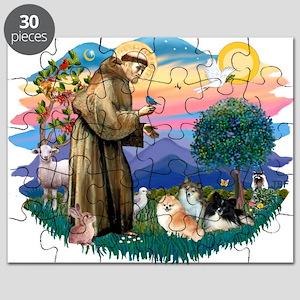 St.Francis #2/ Pomeranian(3) Puzzle