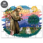 St.Francis #2/ Pomeranian (f) Puzzle
