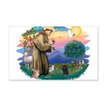 St.Francis #2/ Poodle (Toy Bl 22x14 Wall Peel