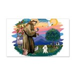 St.Francis #2/ Poodle (Toy W) 22x14 Wall Peel