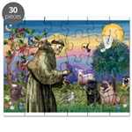 Saint Francis & Two Pugs Puzzle