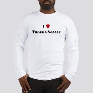 I Love Tunisia Soccer Long Sleeve T-Shirt
