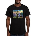 St Francis / Rottweiler Men's Fitted T-Shirt (dark