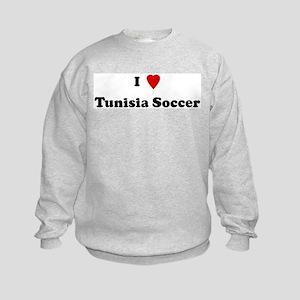 I Love Tunisia Soccer Kids Sweatshirt