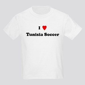 I Love Tunisia Soccer Kids T-Shirt