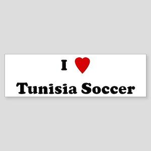 I Love Tunisia Soccer Bumper Sticker