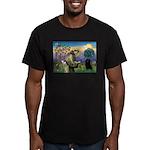 St Francis / Schipperke Men's Fitted T-Shirt (dark
