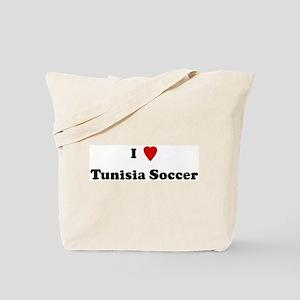 I Love Tunisia Soccer Tote Bag