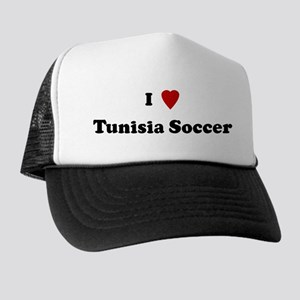 I Love Tunisia Soccer Trucker Hat