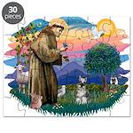 St.Francis #2/ Schnauzer #1 Puzzle