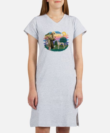 St Francis #2/ Sloughi Women's Nightshirt