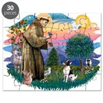 St.Francis #2/ Toy Fox Ter. Puzzle