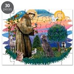 St.Francis #2/ Weimaraner #1 Puzzle