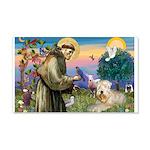 St. Fran #2 / Wheaten Terrier 22x14 Wall Peel