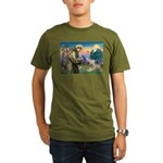 St. Fran #2 / Wheaten Terrier Organic Men's T-Shir