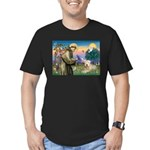 St. Fran #2 / Wheaten Terrier Men's Fitted T-Shirt