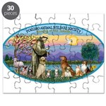 St Francis / dogs-cats Puzzle