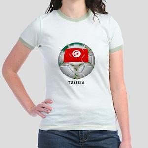 Tunisia soccer Jr. Ringer T-Shirt