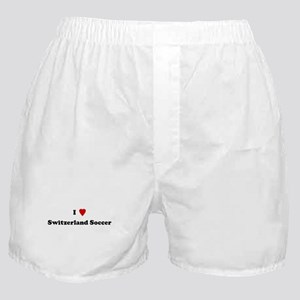 I Love Switzerland Soccer Boxer Shorts