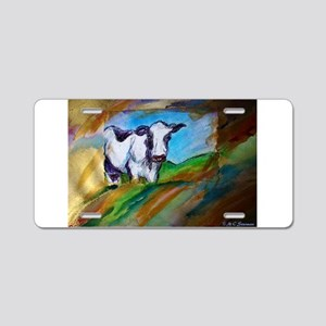 Dairy Cow, animal art, Aluminum License Plate