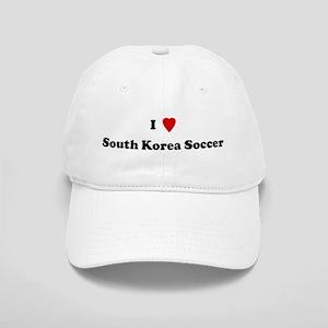 I Love South Korea Soccer Cap
