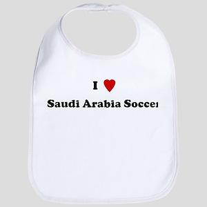 I Love Saudi Arabia Soccer Bib