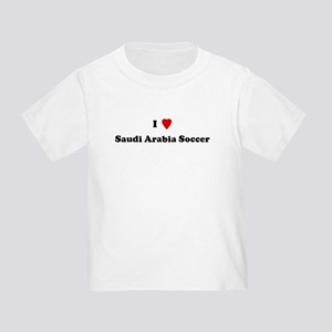 I Love Saudi Arabia Soccer Toddler T-Shirt