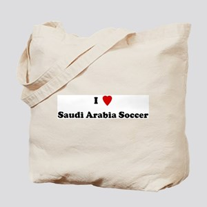 I Love Saudi Arabia Soccer Tote Bag