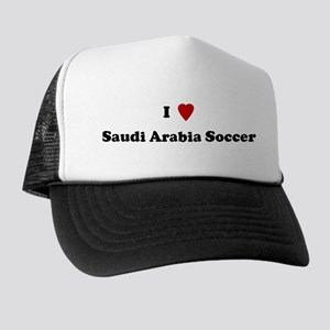 I Love Saudi Arabia Soccer Trucker Hat