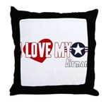 I Love My Airman Throw Pillow