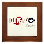 I Love My Airman Framed Tile
