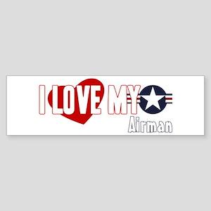 I Love My Airman Sticker (Bumper)