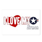 I Love My Airman Postcards (Package of 8)