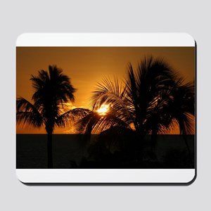 Sunset Palms - Mousepad