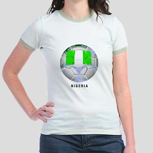 Nigeria soccer Jr. Ringer T-Shirt