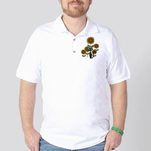 Sunflower Black Cat Golf Shirt