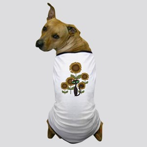Sunflower Black Cat Dog T-Shirt
