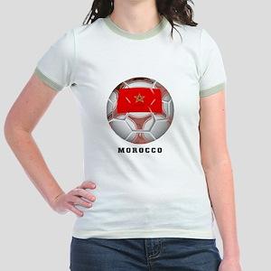 Morocco soccer Jr. Ringer T-Shirt