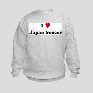 I Love Japan Soccer Kids Sweatshirt