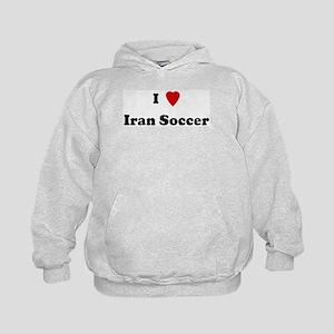 I Love Iran Soccer Kids Hoodie