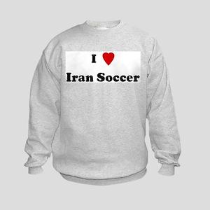 I Love Iran Soccer Kids Sweatshirt